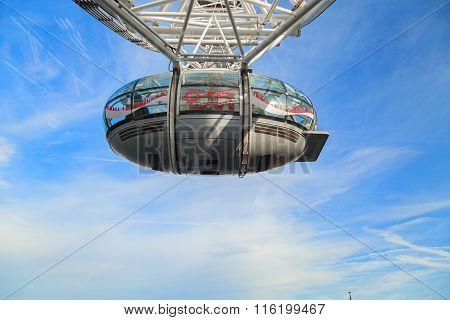 London, United Kingdom - 25 January 2016: London Eye Is The Tallest Ferris Wheel In Europe, United K