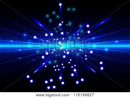 Abstract Background With Spread Blue Light Rays