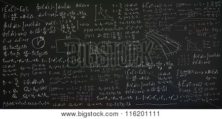 Physics and mathematics equation background
