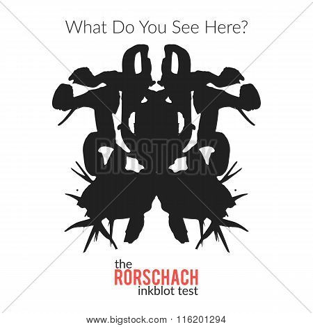 The Rorschach Inkblot Test Vector Isolated Variation For Psychological Test For Psychologists