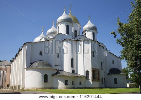Saint Sophia Cathedral of a sunny day in July. Veliky Novgorod