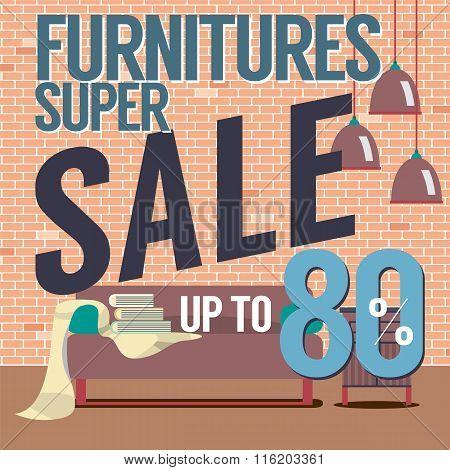 Furniture Super Sale Up To 80 Percent.