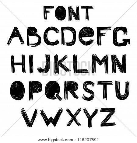 Alphabet skrabble grunge style  vector.