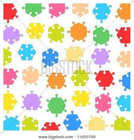 Piezas de rompecabezas hexagonal