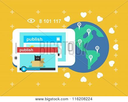 Share video publish