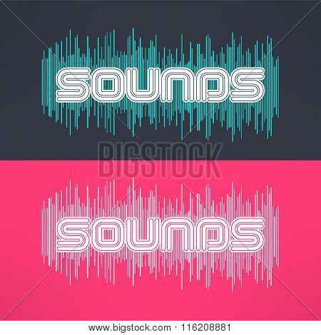 Vector music stylish background with equalizer. Cool tshirt design