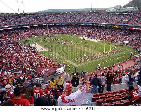 Fans Cheer As 49Ers Celebrate Win On Field