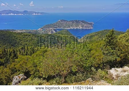 Panoramic view to Assos village, Kefalonia, Ionian Islands, Greece