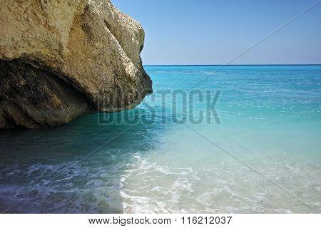 Rocks at Myrtos Beach, Kefalonia, Ionian Islands, Greece