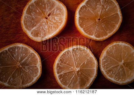 Slices ripe lemon