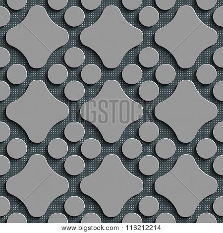 Seamless Circle Pattern. Vector Gray Regular Texture