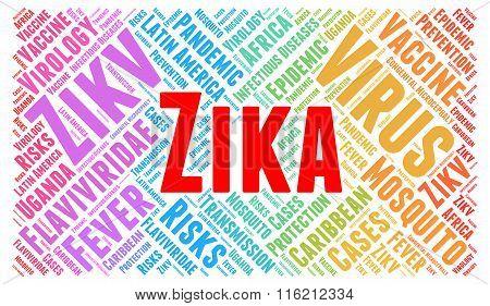 Zika virus word cloud concept