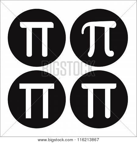 Mathematic Pi Icon Black And White