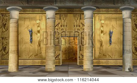 Ancient Egyptian Temple Indoor