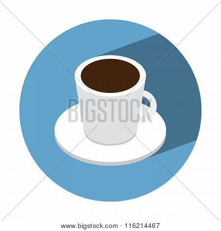 Coffe Cup Isometric Icon
