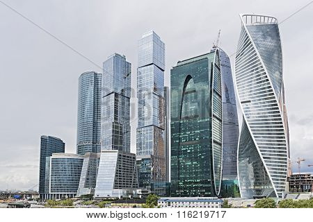Moscow City Business Center In Moscow