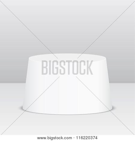 Round pedestal for display.