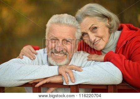 Happy fit senior couple