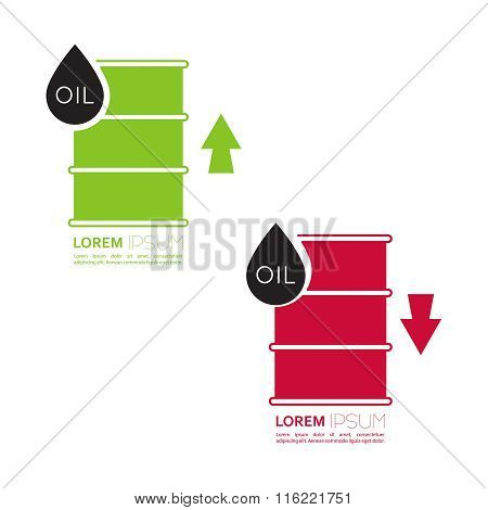 Oil barrels with indicators