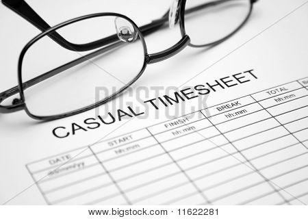 Casual timesheet