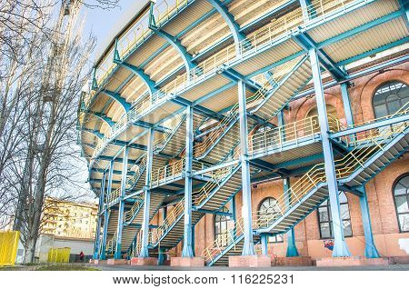 Bologna, Italy - March 7, 2015: Renato Dall Ara Stadium From Outside.