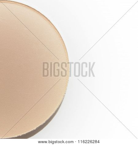 Half Of Natural Beige Pressed Powder Isolated