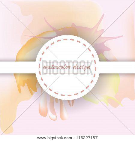Round Label On Blurred Background
