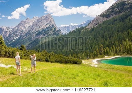 Tourist In The Dolomites