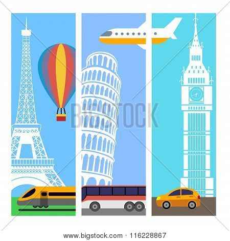Transport Travel Vertical Banners