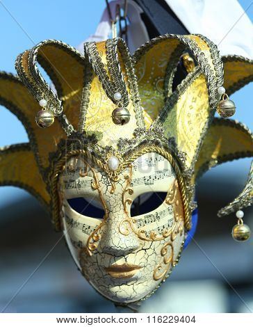 Venice Italy Golden Carnival Mask