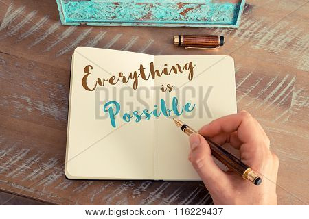 Written Text Everything Is Possible