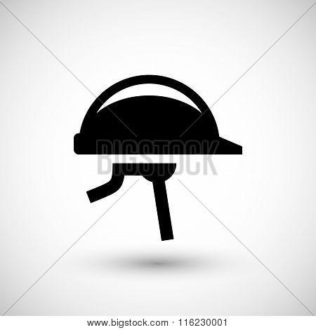 Protective helmet icon