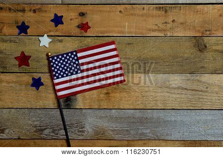 American flag with stars