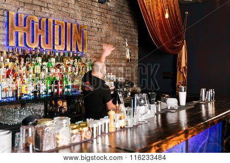 The Bartender Working