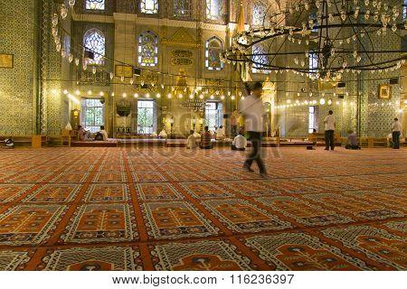 Indoors Of Yeni Valide Camii