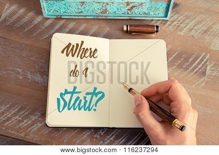 Written Text Where Do I Start ?