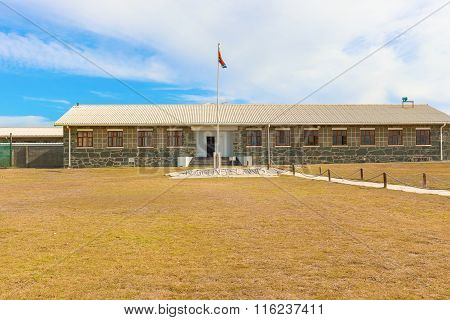 Cell Block On Robben Island Off The Coast Of Cape Town, Western Cape, South Africa