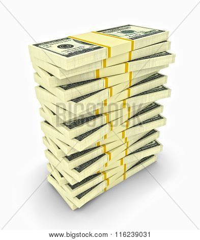Big Money Stack From Dollars