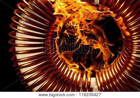 Burning Inductor