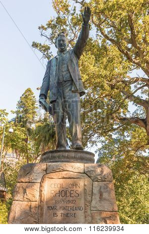Statue Of Cecil Rhodes In Cape Town, South Africa