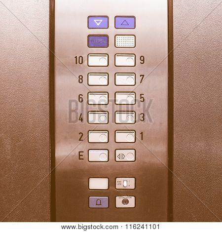 Lift Elevator Keypad Vintage