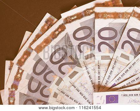 Euro Bank Notes Vintage