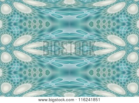 Seamless ellipses pattern turquoise green white gray