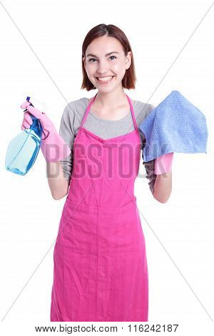 Woman Mother Cleaning