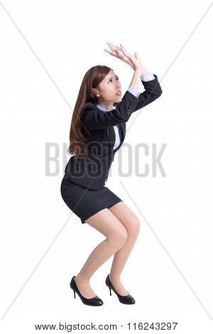 Business Woman Fear Something
