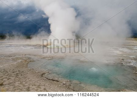 Yellowstone Geysers And Springs