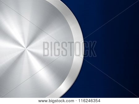 metal plate with round button
