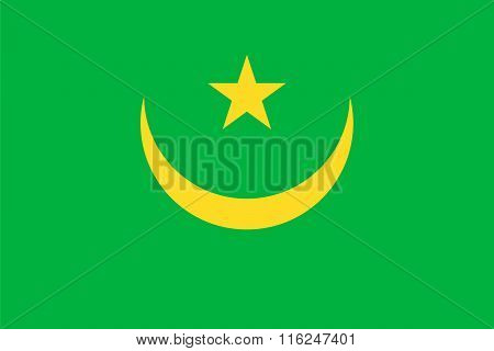 Standard Proportions For Mauritania Flag