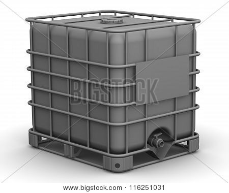 The cubic capacity (plastic container). Intermediate Bulk Container