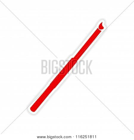 icon sticker realistic design on paper cigarette holder